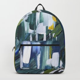 Green Blue Yellow Abstract 1 Backpack