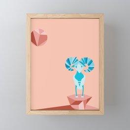 Modern Aries Ram Framed Mini Art Print