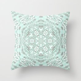 Blue Snowflake Throw Pillow