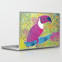 toucan Laptop & iPad Skins featuring Toucan by Eliana Bertola