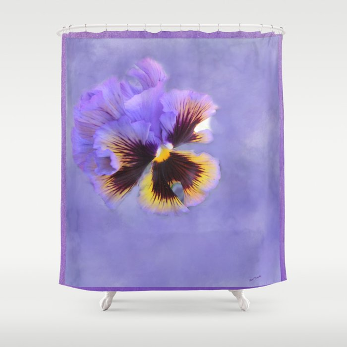 Lavender Pansy Shower Curtain