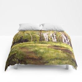 Landscape Birch Trees  Comforters