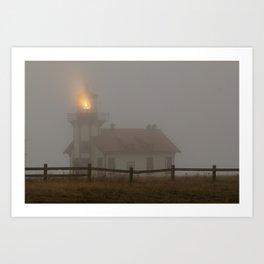 Cabrillo Lighthouse Mendocino California Art Print