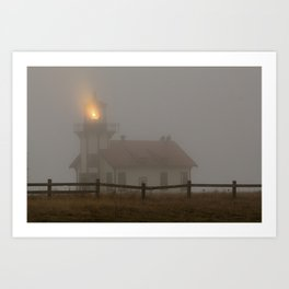 Cabrillo Lighthouse Mendocino California Art Print