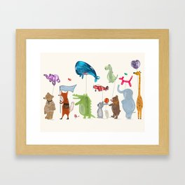 balloon parade Framed Art Print