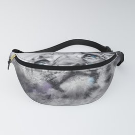 Snow Leopard in charcoal Fanny Pack