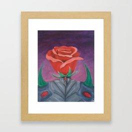 the knight rose Framed Art Print