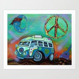 Hippie Trip Art Print