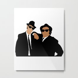 The Blues Brothers 80s movie Metal Print