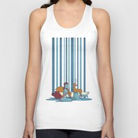 50s Tank Tops featuring SWIMMING POOL by Ale Giorgini