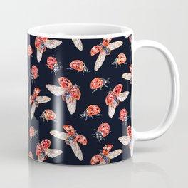 Lucky Ladybugs Pattern Coffee Mug