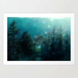 Forest-Blue Art Print