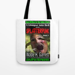 """Splatterpunk"" book cover art with signature Tote Bag"