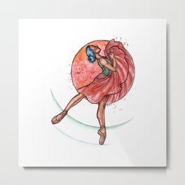 Precious - Ballerina Drawing Metal Print