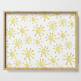Happy Sunshine Print Serving Tray