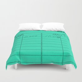 Library Card 797 Turquoise Duvet Cover