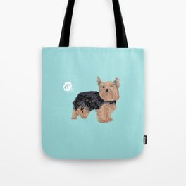 yorkie funny farting dog breed pure breed pet gifts yorkshire terrier Tote Bag