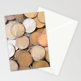 Watercolor Coins, Lincoln Wheat Pennies, 1936 01 Stationery Cards