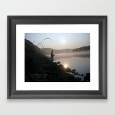 gone fishin Framed Art Print