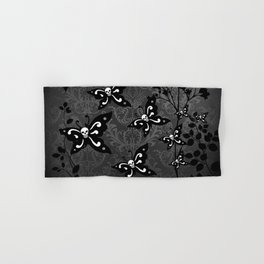 Skullerflies in the garden - dark scale Hand & Bath Towel