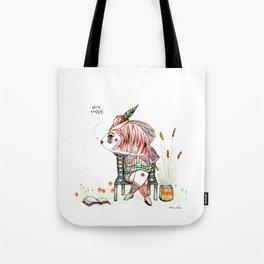 The quiet reader Tote Bag
