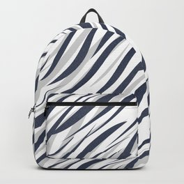 Abstract grey white pattern . Backpack