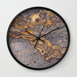 Gold Inlay Marble II Wall Clock