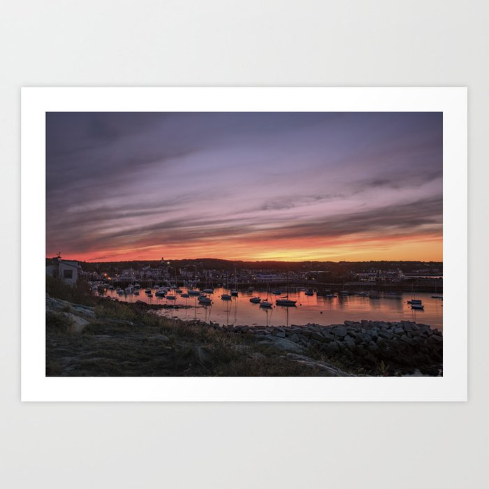 Last Rockport Sunset of Summer Art Print