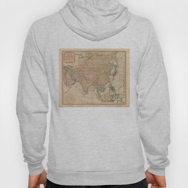 Vintage Map of Asia (1799) Hoody