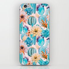Cactus and flowers pattern iPhone & iPod Skin