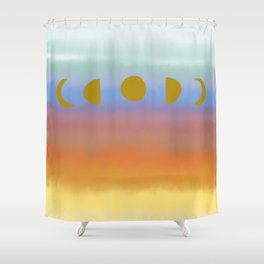 Sunset Moonrise Shower Curtain