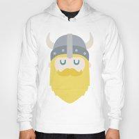 viking Hoodies featuring Viking by Beardy Graphics
