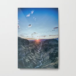 Canon Sunset Metal Print