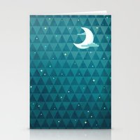 night sky Stationery Cards featuring Night Sky by littleclyde