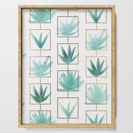 Mid Century Succulents Serving Tray