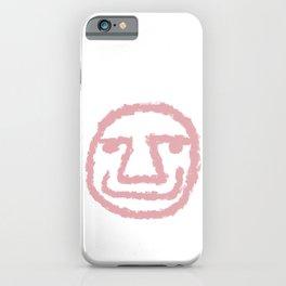 Minimalist Brush Stroke Face 009 iPhone Case