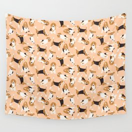 beagle scatter peach Wall Tapestry
