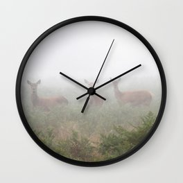 Three in the fog Wall Clock