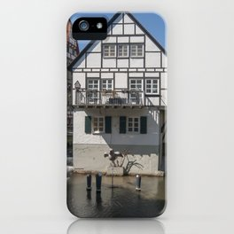 House in the water fisher quarter Ulm - Germany iPhone Case
