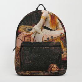 John William Waterhouse The Lady Of Shallot Restored Backpack