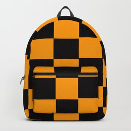 Golden Yellow & Black Chex 2 Backpack