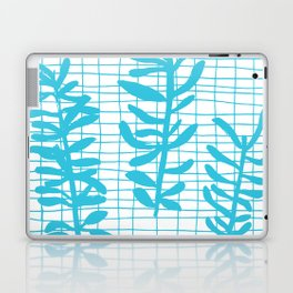 Grid Sprig - aqua blue Laptop & iPad Skin