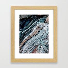 Blue Topography Dream Framed Art Print