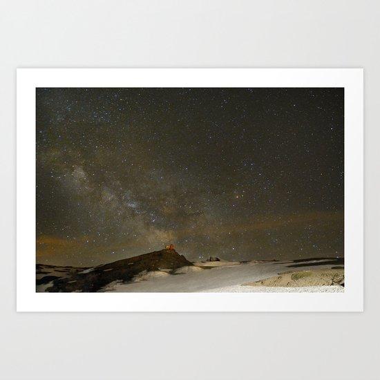 the Milky Way, Sagittarius and Antares on the Sierra Nevada National Park Art Print