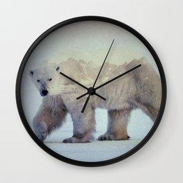 Arctic: Polar Bear Wall Clock
