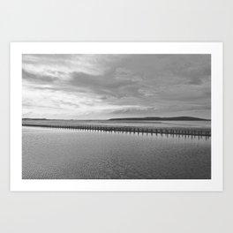 Weston-super-Mare black and white Art Print