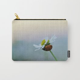 Ladybug on a Chamomile Flower Carry-All Pouch