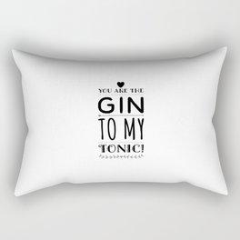 Gin Tonic Recipes Drink alcohol drink gift Rectangular Pillow