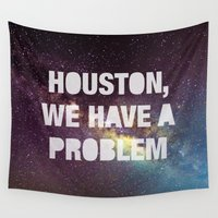 houston Wall Tapestries featuring Houston by Text Guy
