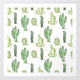 cactus stamp Art Print